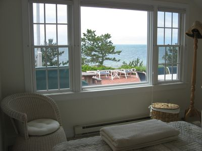 One of two bedrooms in the east wing of the house which also faces the beach.