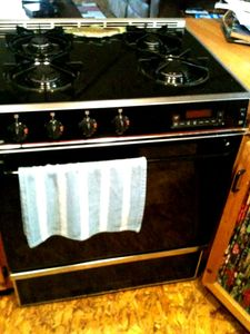 The gas range (stove/oven)