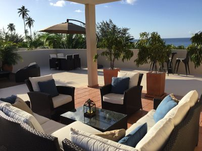 Relax and unwind on the private terrace with beautiful panoramic views.