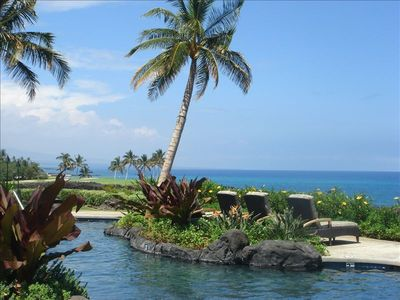 Waikoloa Beach Resort condo rental - Ocean View from Pool