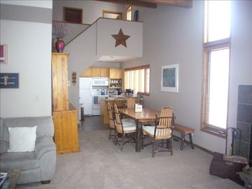 Lower level Condo dining area & kitchen