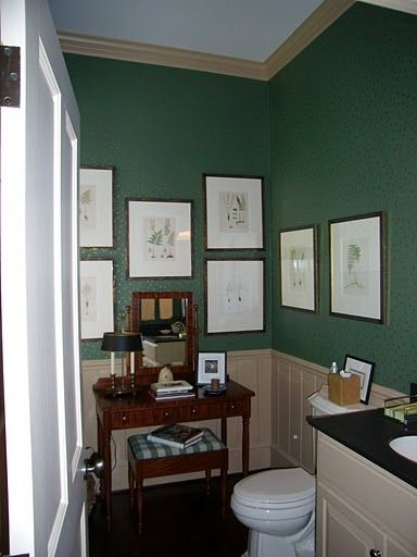 Powder Room Off Entrance Hall