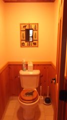 Lake Placid property rental photo - Master Bath - private toilet.
