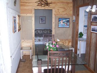 Galveston house photo - Dining area and back bedroom