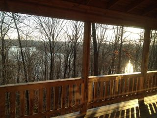 French Lick cabin photo - Patoka Lake in winter, as seen from the master bedroom.