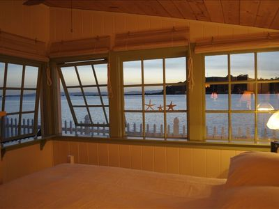 Master bedroom has sweeping views of the N. Bay, Mare Island, and Mt. Tamalpais