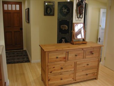 Entry with pine dresser for storage