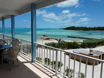 Great Exuma townhome rental - Enjoy THIS VIEW anytime from your own furnished balcony