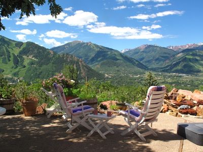 Aspen house rental - Summer is for outdoor living. Savor panoramaS on the spacious terrace