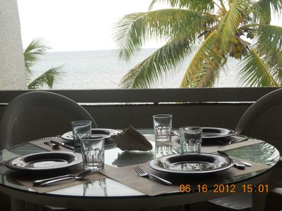 St. Croix condo rental - Balcony Table Set with a View