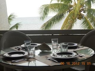 St. Croix condo photo - Balcony Table Set with a View