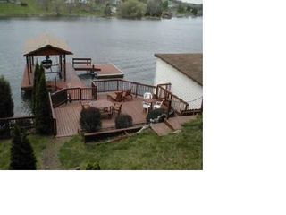 Lakeside Patio, Boat dock and floating dock - Claytor Lake house vacation rental photo