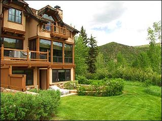 Snowmass Village house photo - 3 story townhouse in natural mountain setting