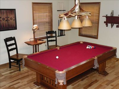 Burnside cabin rental - Professional Size Billiards Table