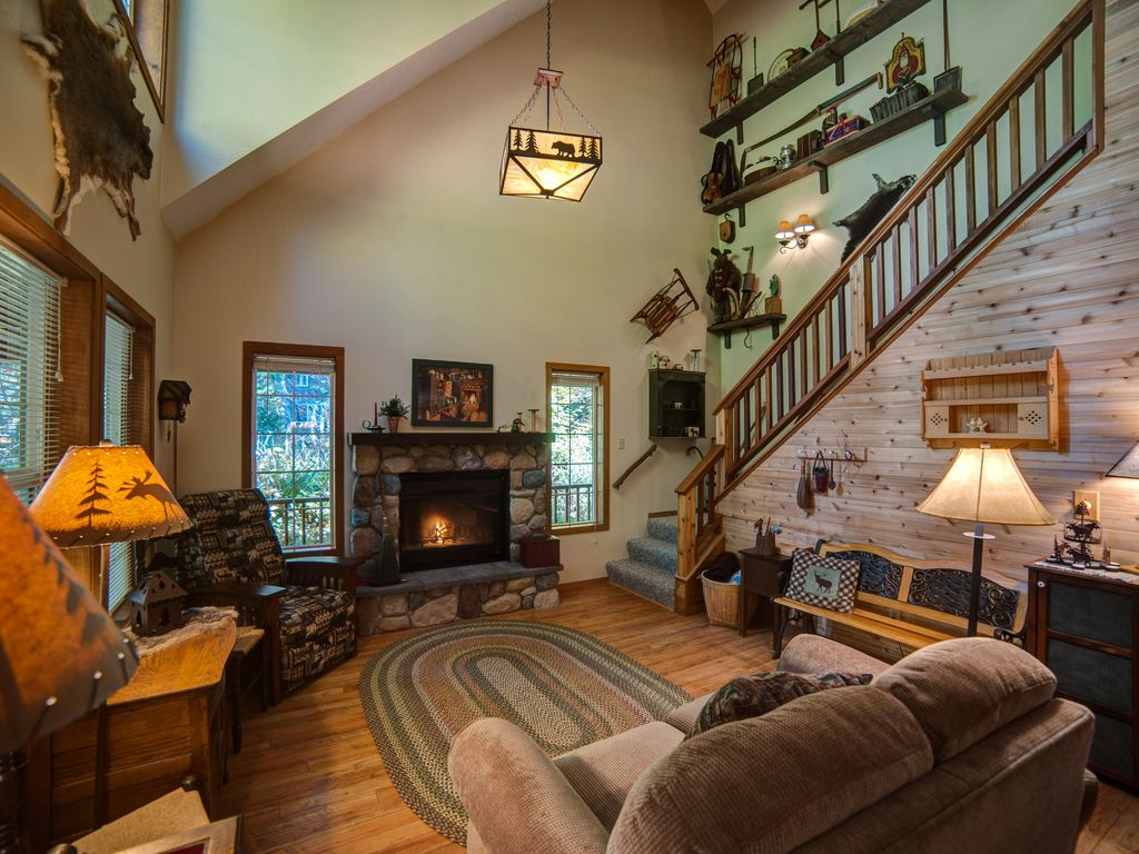 Moose Manor Living Room With