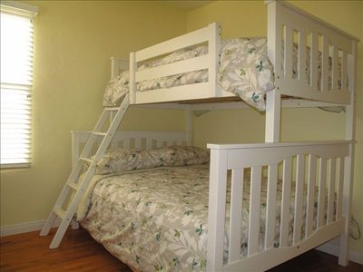 Bedroom 2's twin over full bunk beds.