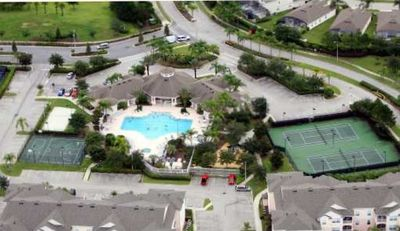 Clubhouse, Tennis, Basketball, Beach Volleyball, Pool - Aerial View