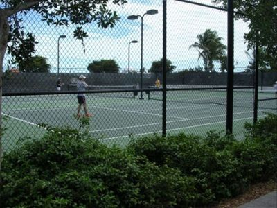 Two tennis courts for day or night play --  Condo Rental by owner