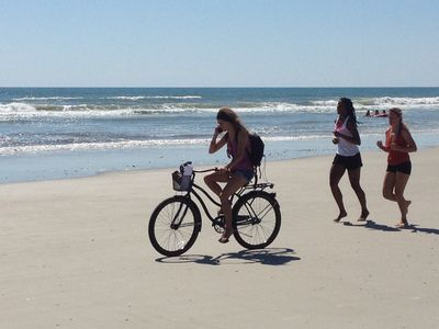 St. Augustine's big flat beaches are ideal for biking, jogging and walking.