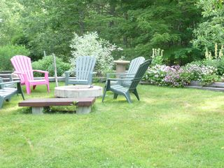 Log Home cottage charm FLOWERS everywhere! 8 Adirondack chairs - Kennebunk house vacation rental photo