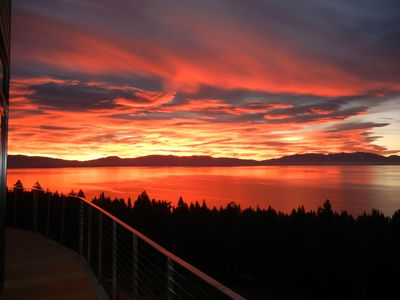 Tahoe Sunrise View from Deck
