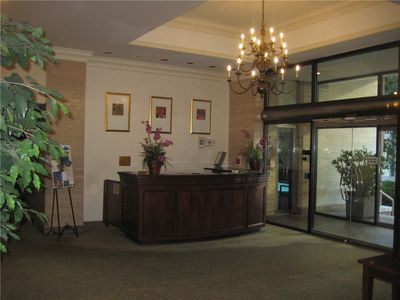 Concierge Desk at Front Lobby. Concierge will have your check-in envelope.