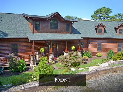 Enjoy Long Distance Vistas In Luxurious Log Home Overlooking National Forest