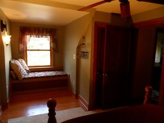 Jim Thorpe house photo - Master Bedroom with Window seat overlooking the woods