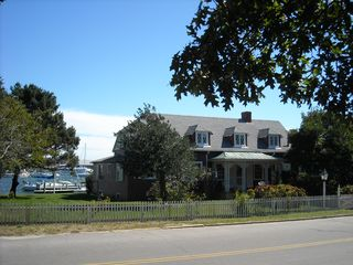 Oak Bluffs house photo - Street side of house - view of harbor behind