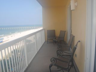 Calypso Resort condo photo - Four Chairs and chaise lounge for watching the sunsets and pier activities.