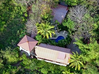 Nestled in Jungle, La Casita North Shares Lush 1/2 Acre With Ocean View Unit