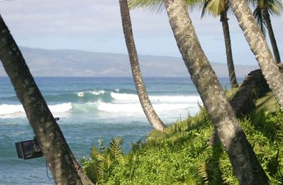 "From the Lanai, you can see a favorite local surf spot called ""Little Makaha""."