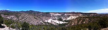 Panoramic view of valley adjacent to Tent Rocks.