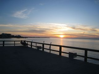 Navarre Beach condo photo - Stunning Sunset From Our Private Fishing Pier