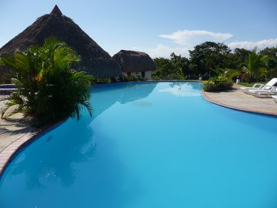 Beach, Pool and Mountains.  Perfect Tropical Paradise