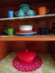 Dallas house photo - Since the Depression, Fiesta ware adds cheers to any meal.