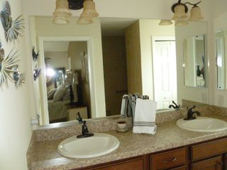 The Villages house photo - Master Bathroom - dual sinks and roman shower