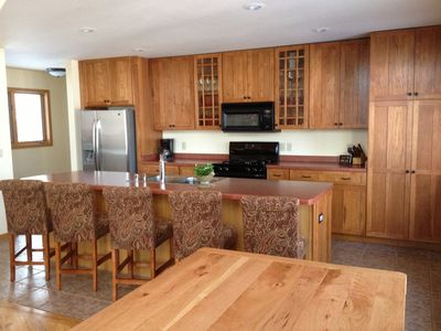 Beautiful fully equipped kitchen with seating for up to 13 people.