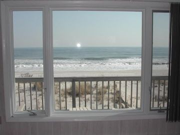 Beach Haven house rental - Relax in your living room overlooking blue surf.
