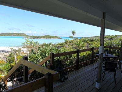 Staniel Cay cottage rental - Down the stairs and on the sand