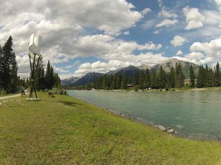 Canmore condo photo - Riverside paths in Canmore... easy hiking and biking for all the family.