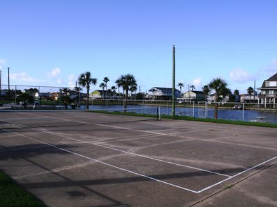 Private Tennis Courts.