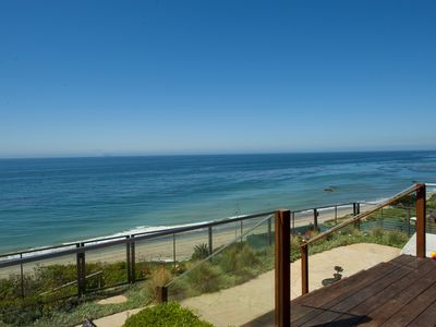 Malibu estate rental - Private stairs to the sand!