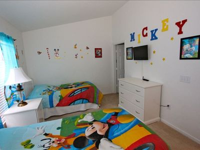 "We love Mickey!  Kid's twin beds with ensuite bathroom featuring ""FInding  Nemo"""
