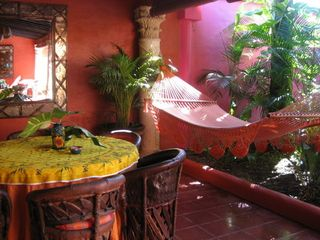 Sayulita house photo - DINING SPACE WITH HAMMOCK FOR AFTERNOON SIESTA