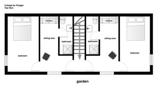 Rambouillet cottage photo - Upstairs floorplan