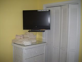 flat screen TV in the bedroom - Isle of Palms condo vacation rental photo