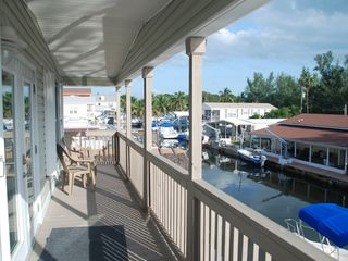 Key Largo house photo - View down canal off balcony