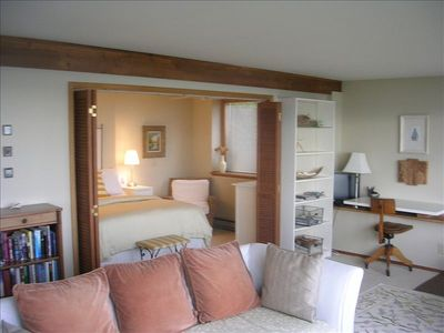Garden Level Unit: Large closets in bedroom. See the boat traffic from bed!!