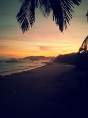 Huatulco condo photo - Sunrise at San Agustinillo - one of the many nearby beaches to explore.